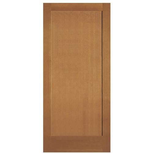 Simpson Brown 1 Panel Solid Core Wood Slab Door Common 30 In X 80 In Actual 30 In X 80 In Lowes Com In 2020 Slab Door Wood Slab Solid Wood Doors
