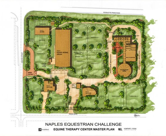 Naples Equestrian Equine Therapy Center Master Plan 800