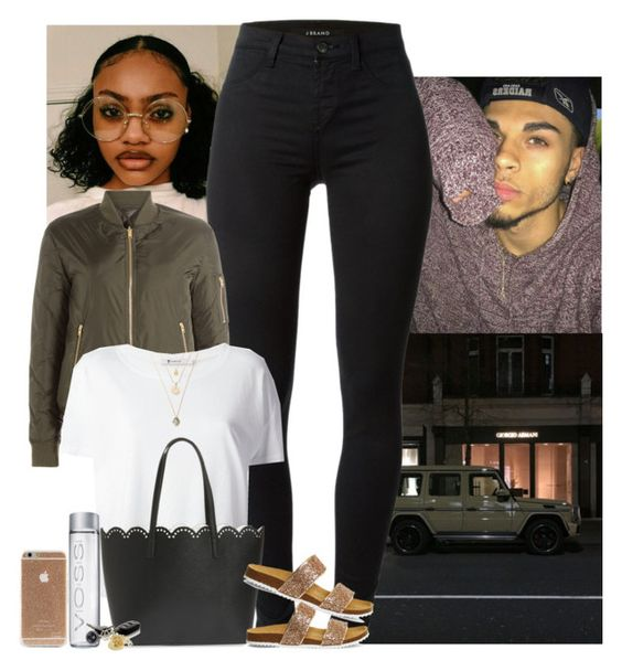 """"""""""" by jemilaa ❤ liked on Polyvore featuring J Brand, Closed, T By Alexander Wang, BP. and Office"""