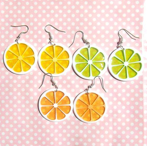 Lemon Orange and Lime slice translucent glitter by KawaiiKave, £5.00