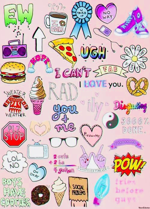 Pin By Kawaii Girl On Art Work And Etc Cute Wallpapers Tumblr Stickers Aesthetic Stickers