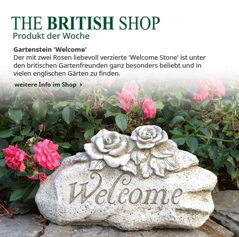 """Bald kann man auch wieder Gäste in den Garten einladen - und diese freuen sich dann über den tollen Empfang durch den """"Welcome Stone""""!"""
