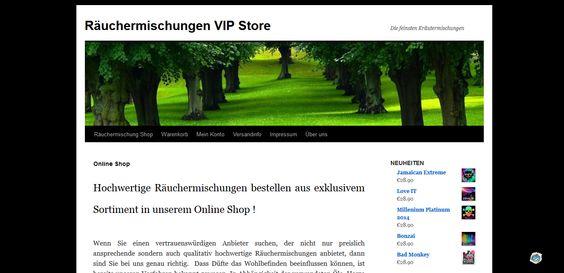 Beim Räuchermischungen Online Shop raeuchermischung-bestellen.com ist der Name Programm. Die Startseite bietet einen einladenden und informativen Willkommens-Text.