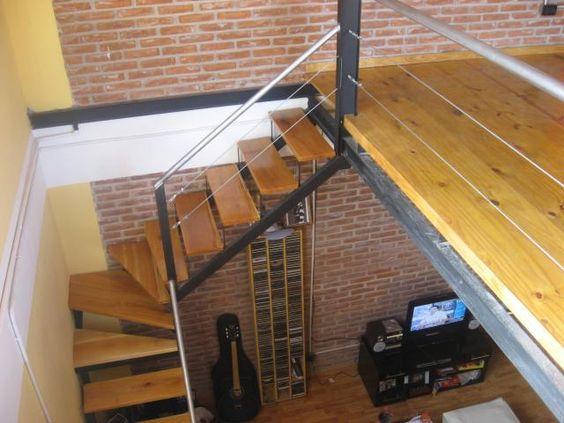 Entrepiso con hierro o madera buscar con google for Como hacer una escalera para entrepiso