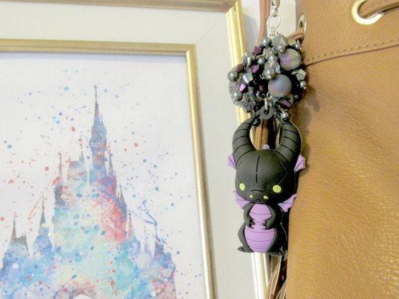 Key Chain, Maleficent, Dragon, fantasy, Disney, funko pop, upcycle, purse charm…