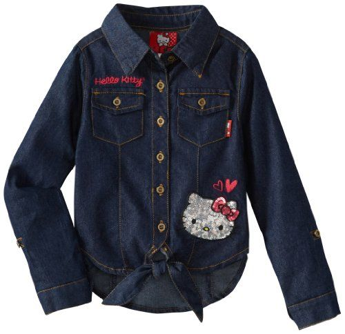 Hello Kitty Girls 2-6X Chambray Shirt for only $8.50 You save: $29.50 (78%)