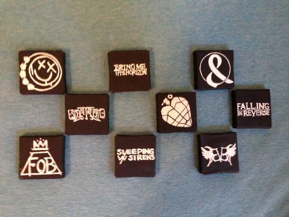 Mini Canvas Band Logos by DarkBandArt on Etsy
