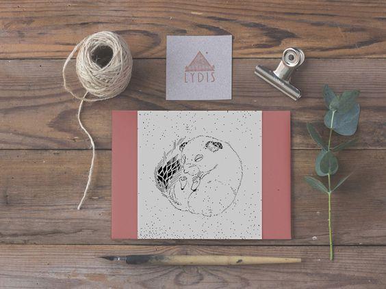 Tiere - KartenSet | Siebenschläfer | Trüffelschwein | Kiwi - ein Designerstück von Lydia-Kersting-Illustration bei DaWanda