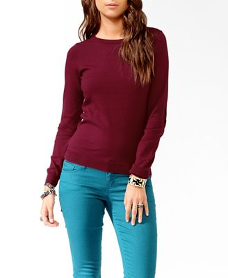 Corduroy Elbow Patch Sweater | FOREVER21 - 2021840608