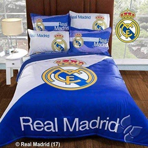 Conjunto De Sábanas Y Edredones Del Real Madrid Spain Socce