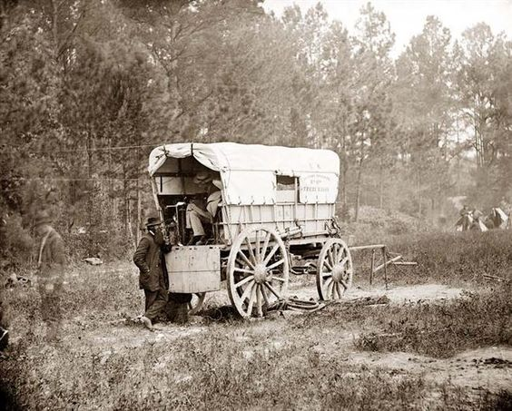 Civil War telegraph wagon, 1864