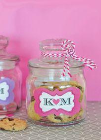 Personalized Mini Cookie Favor Jars, Style EB2393P #davidsbridal #weddingdesserts #weddingfavors