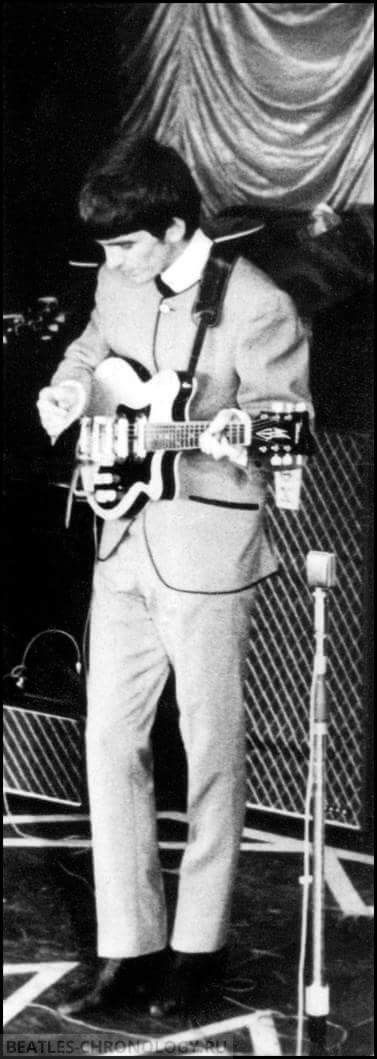 "George Harrison, ABC Theater, August 11th,1963 ""Summer 1963 U.K. Tour"", Blackpool Lancashire, London"