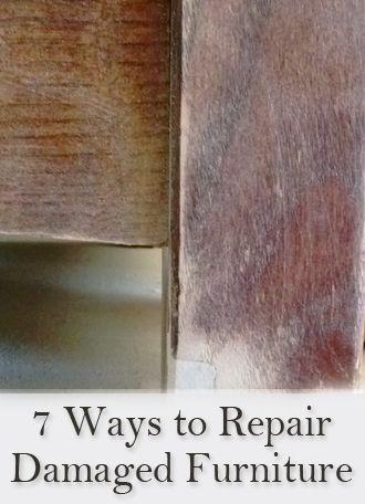 7 Easy Ways To Repair Damaged Wood Furniture Furniture