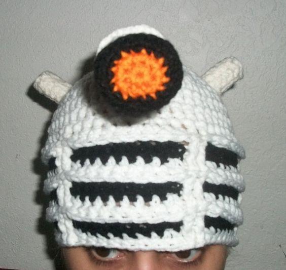 Dalek Hat - Inspired by the Daleks from Doctor Who - crochet. $35.00, via Etsy.