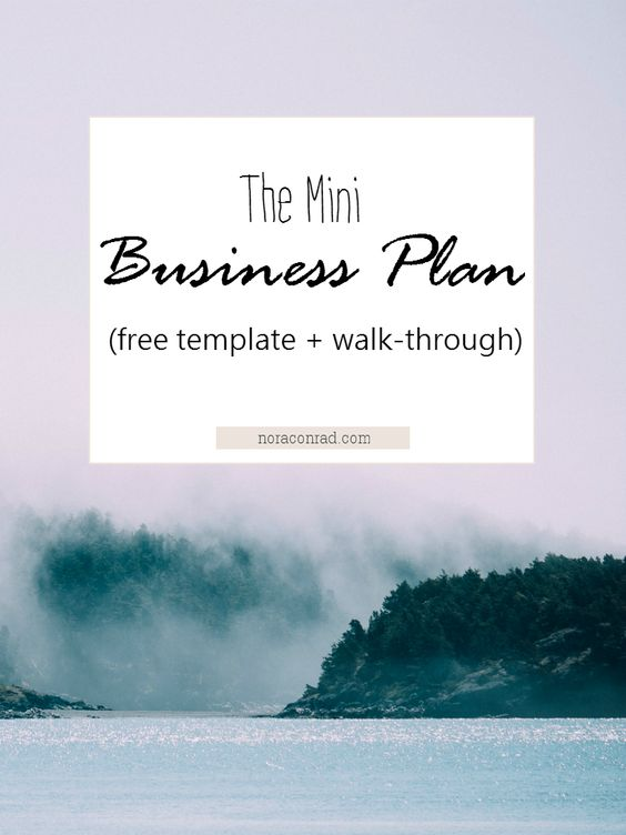 The Mini Business Plan Business planning, Outlines and Business - film business plan