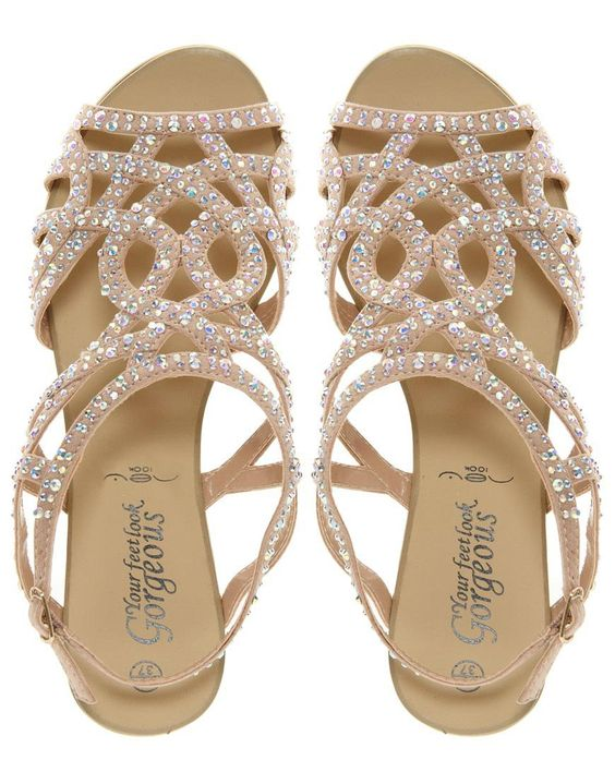 clee08's save of New Look Fabulous Diamante Trim Flat Sandal on Wanelo