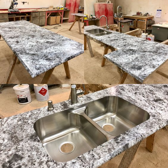 This Is A Beautiful All Custom Manufactured Here At Poney S Laminate Countertops In Formica S Silver Flower Gr Laminate Countertops Home Upgrades Countertops