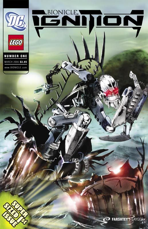 Bionicle comic cover by Stuart Sayger