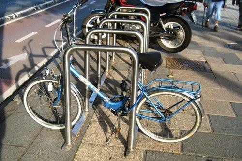 Aparcamiento Bicis De Acero Inoxidable Para 5 Bicicletas Bike