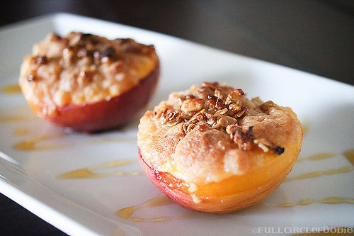 Baked Peaches - a quick and delicious dessert for two!
