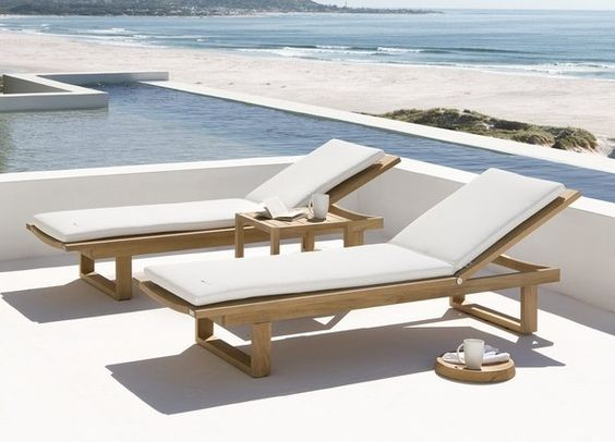 wooden sun loungers cushions ideas white cushions outdoor furniture ideas