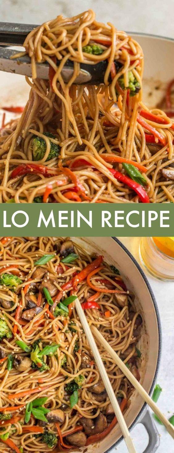 Vegetable Lo Mein Recipe - Valentina's Corner