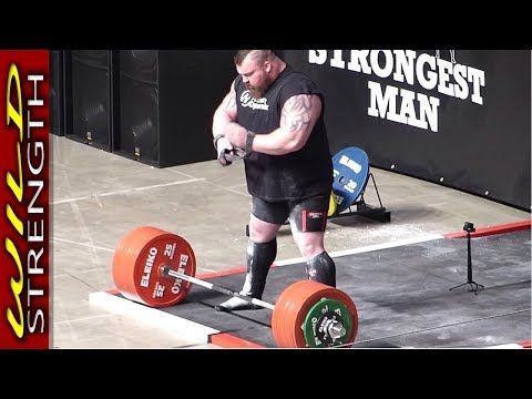 Eddie Hall Deadlift World Record 500kg 1102lbs Includes Full