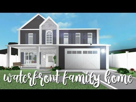 Bloxburg Waterfront Family Home 55k Youtube Modern Family House Home Building Design Family House Plans