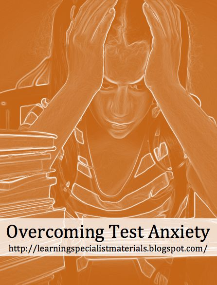A student may know the material, but he or she can not access the information  Try these strategies to lessen that anxiety.