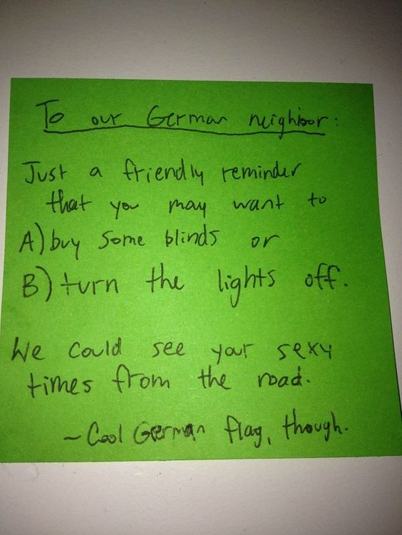 These guys who didn't want to see their neighbor's sexy time: | 21 People Who Took Passive-Aggressive To A New Level In 2015