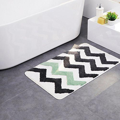 Pauwer Bath Rugs Microfiber Bathroom Rugs Non Slip Bath Mat Water Absorbent Kitchen Mat Floor Rug Machine Washable 21 34 Floor Rugs Bath Rugs Bath Runner Rugs