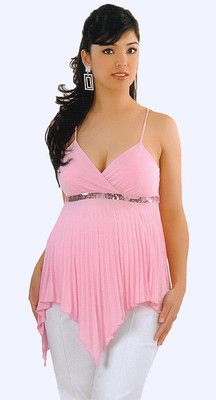 Nwt sexy diva maternity pink silver sparkle pleated cami - Diva pants ebay ...