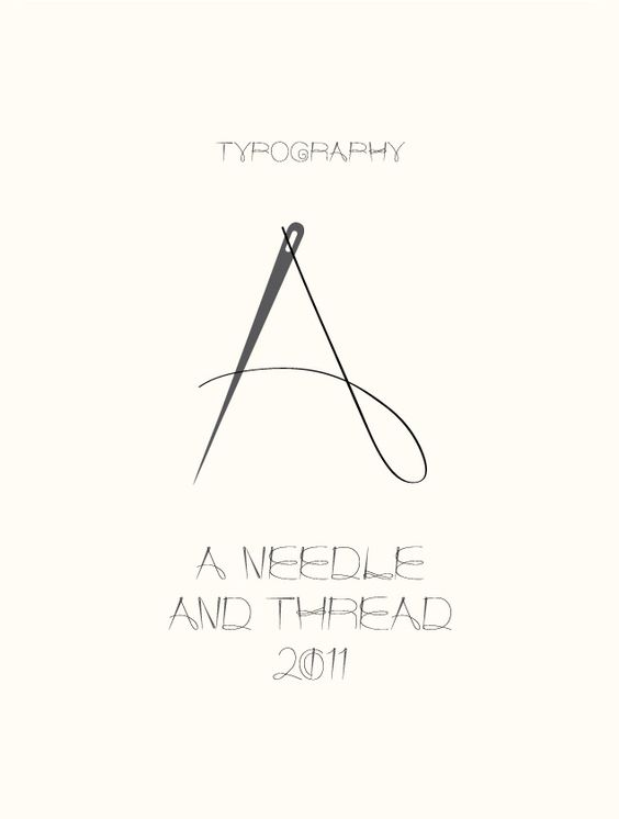 a needle and thread type experiment by graphic designer