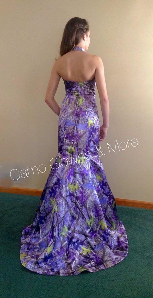 True Timber Purple Sassy B Camo Mermaid Gown With Sweep Train One