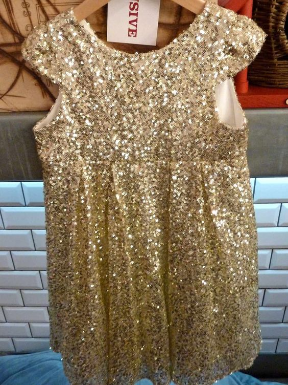 I Love Gorgeous beautiful gold sequin dress an exclusive for Selfridges Holiday 2012 Christmas