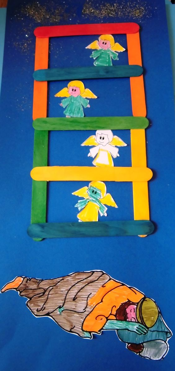 Jacob 39 s dream selfmade crafts of the bible for Childrens sunday school crafts