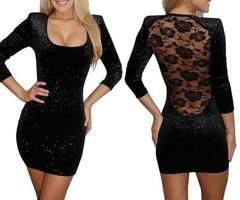 lace back and sequins--two favorite things! Wish I could actually pull this off