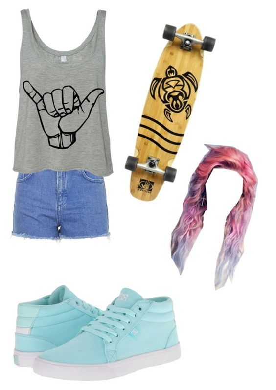 """Untitled #41"" by moonlightpanda1 ❤ liked on Polyvore featuring Topshop, DC Shoes and Body Glove"