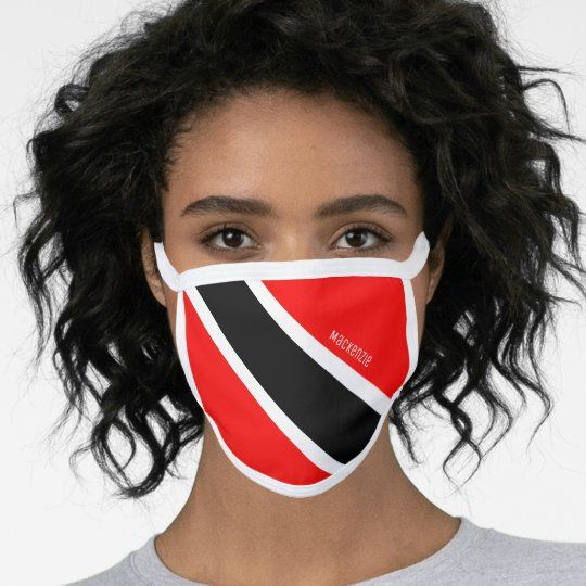 Personalized Trinidad And Tobago Flag Face Mask Zazzle Com In 2020 Snowman Faces Frosty The Snowmen Mask