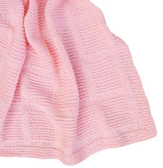 Knit Purl Afghan Patterns : Knit/Purl Baby Blanket KnitKit... Easy knit/purl pattern ...