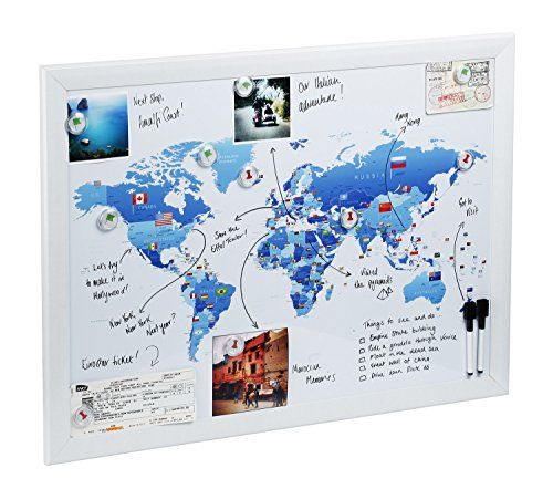 World Map Magnetic whiteboard Maps to draw pin and plan your – Magnetic Travel Map