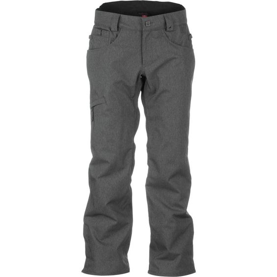 686 Men's Authentic Raw Insulated Snowboard Pants - Gunmetal Twill Denim