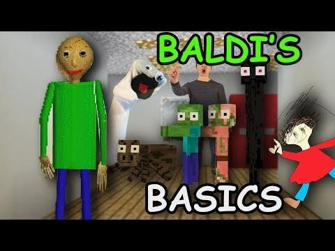 Monster School Baldi S Basics Challenge Minecraft With Images