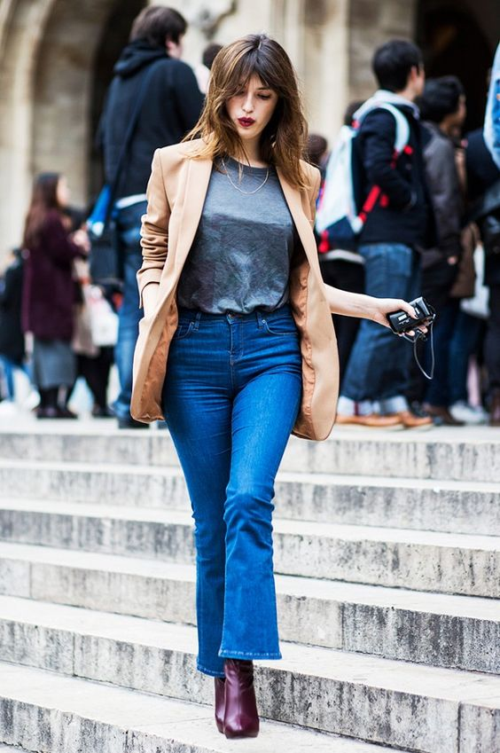Cropped bell bottoms are the perfect way to show off those ankle boots!