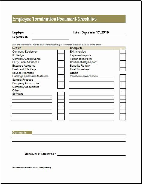 30 Free Employment Termination Forms In 2020 Templates