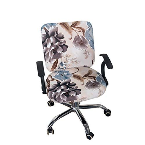 Stupendous Office Chair Covers Spandex Computer Chair Slipcover Flower Inzonedesignstudio Interior Chair Design Inzonedesignstudiocom
