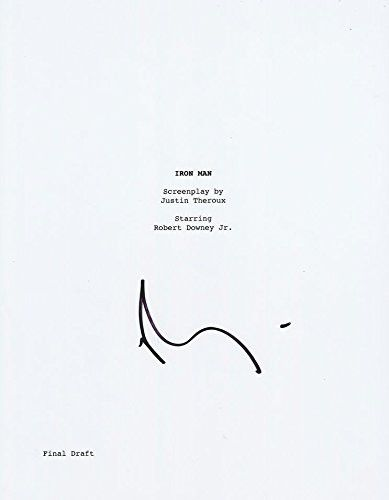 Robert Downey Jr. Signed 'Iron Man' Script Autograph Full Every Page COA