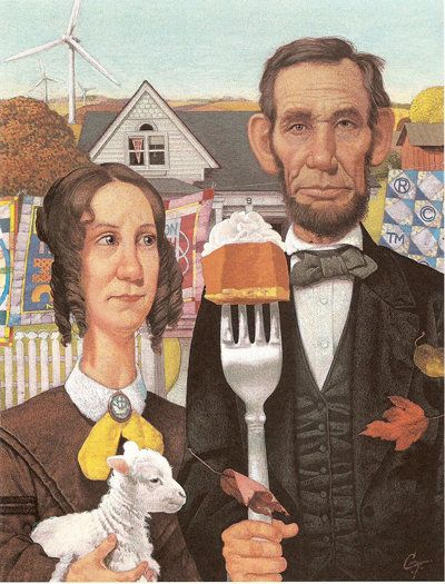 """The Lincolns Parody of """"American Gothic"""""""