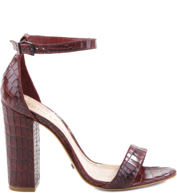SANDÁLIA SINGLE STRIPE CROCO RED WINE